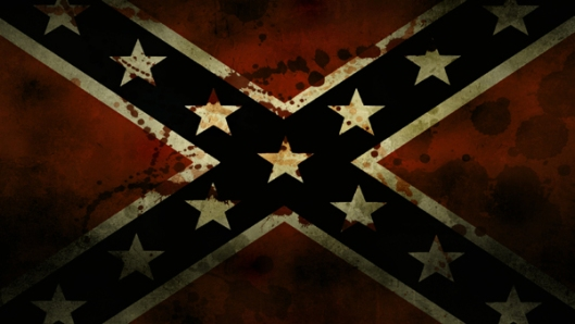 Blood-Stained Confederate Flag