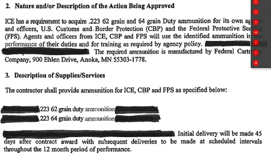 DHS Redacted Ammunition Order - 1