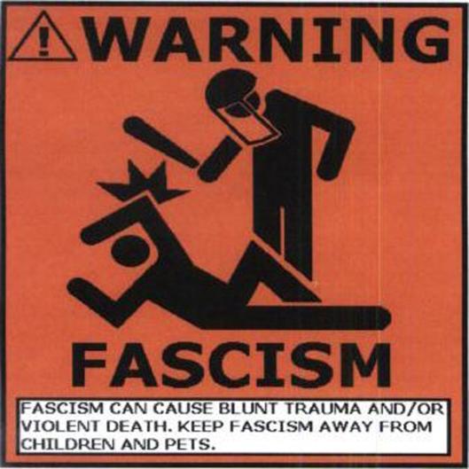 Fascism Warning Sign