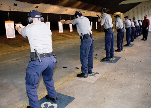 Firearms Training at DHS Facility