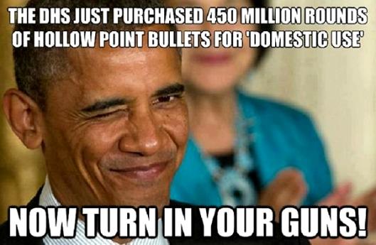 Obama Gun Confiscation - DHS 450 Million Round Ammo Purchase