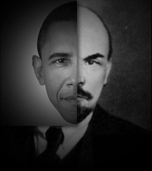 Obama - Lenin Poster