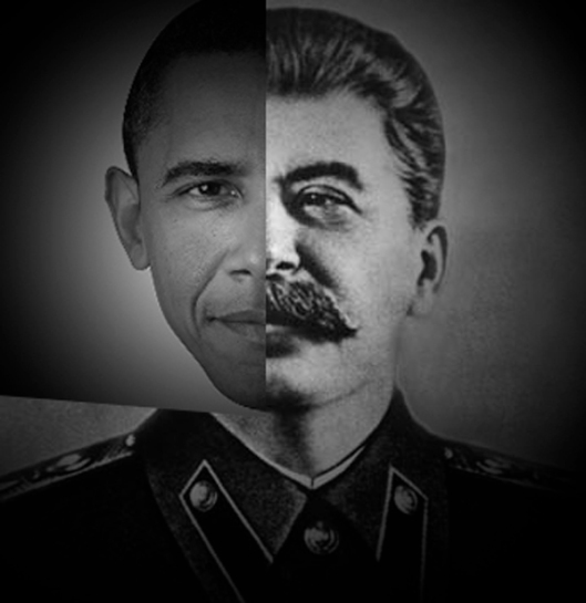 Obama - Stalin Poster