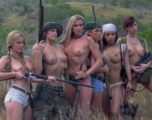 Topless Southern Girl Militia - Nudist Group